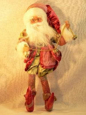 Размер: 35,56 см.Эта продукция выполнена из высоко качественных материалов, вручную.  Какой Новый Год без Деда Мороза...