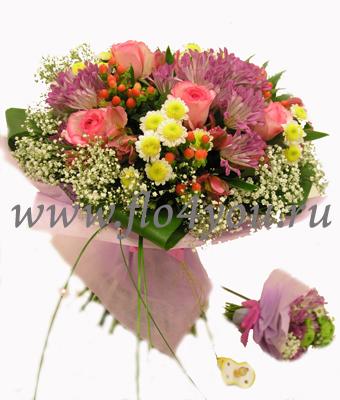 Дизайн букетов из живых цветов